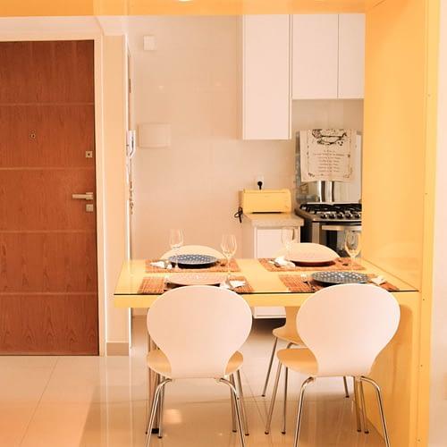 Arquiteta Beatriz Teixeira - Apartamento Franco Integração Sala e Cozinha
